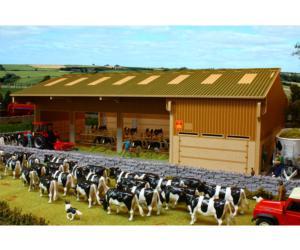 Granja para vacas a escala 1:32 Brushwood Toys BBB120