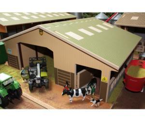 Almacén y granja de vacas para miniaturas a escala 1:32 Brushwood Toys BT4000