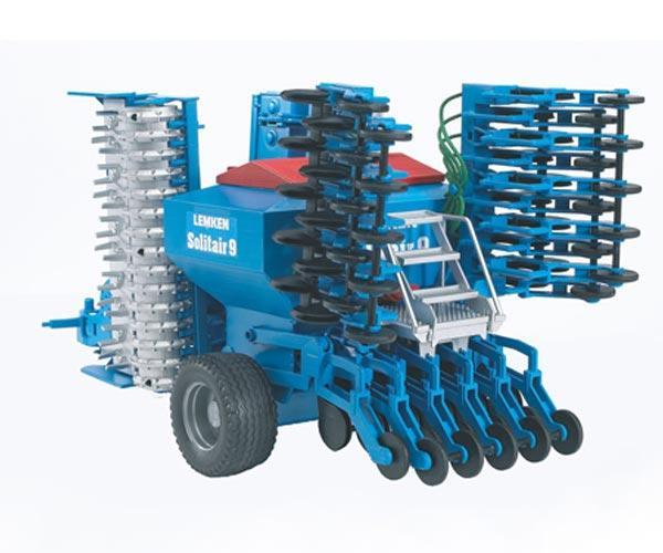 Funcionamiento sembradora de juguete LEMKEN Solitair 9 Bruder 02026