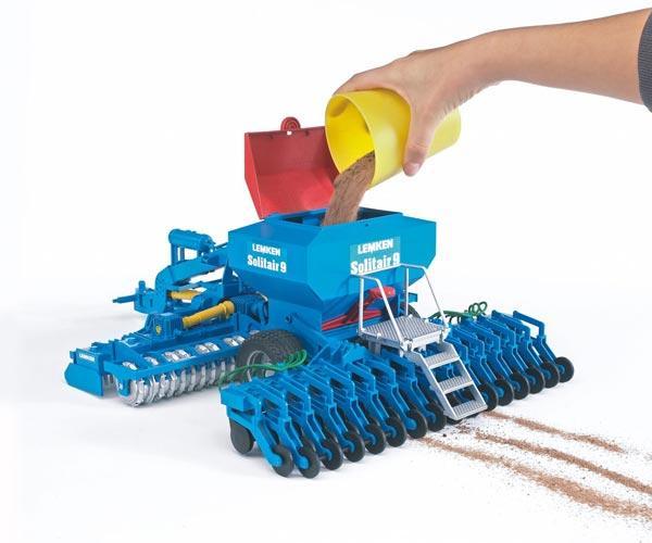 Simulación sembradora de juguete LEMKEN Solitair 9 Bruder 02026
