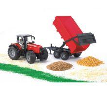 Tractor de juguete MASSEY FERGUSON 7480 con remolque - Ítem1