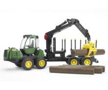 Procesadora de juguete JOHN DEERE 1210E con 4 troncos - Ítem1