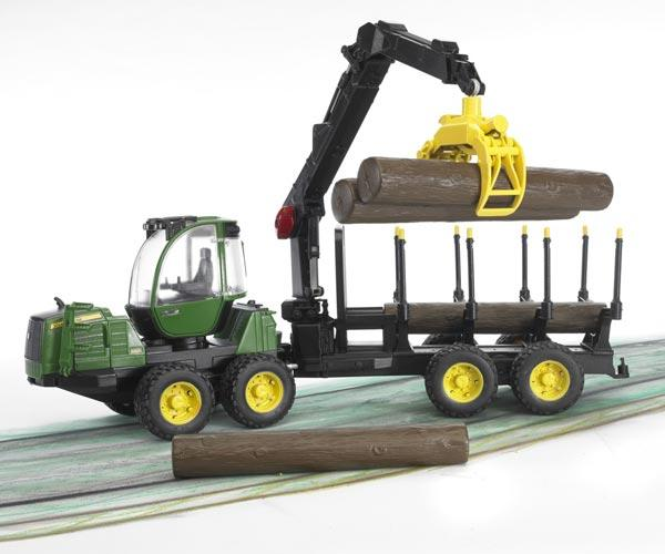Procesadora de juguete JOHN DEERE 1210E con 4 troncos - Ítem3