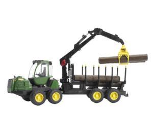 Procesadora de juguete JOHN DEERE 1210E con 4 troncos