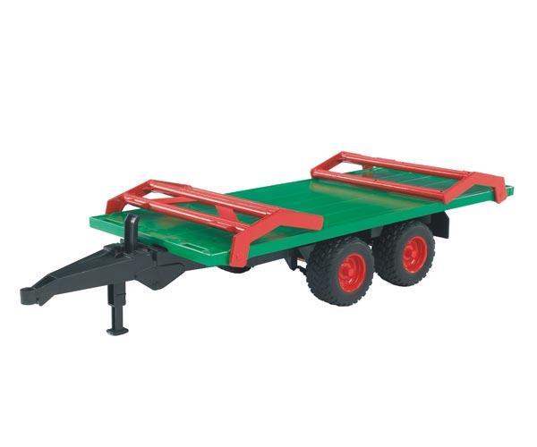 Remolque plataforma de juguete transporte pacas con 8 pacas - Ítem1
