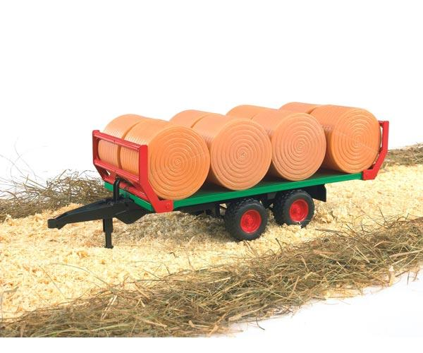 Remolque plataforma de juguete transporte pacas con 8 pacas - Ítem2