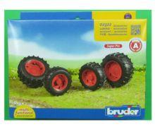 Juego de ruedas gemelas Tractores de juguete serie Top Profi 2000 llantas rojas - Ítem3
