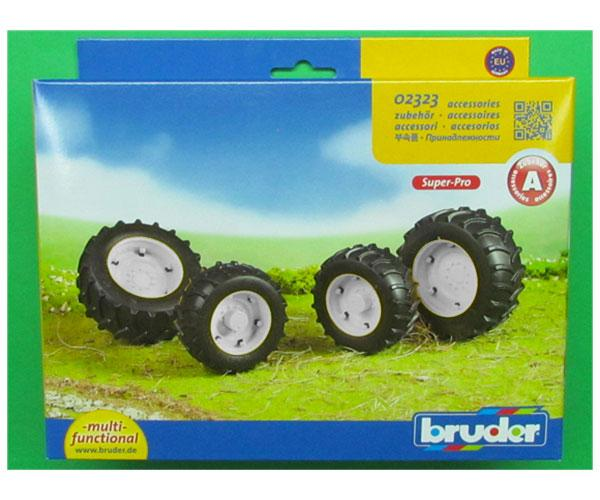 Juego de ruedas gemelas Tractores de juguete serie Top Profi 2000 llantas blancas - Ítem3