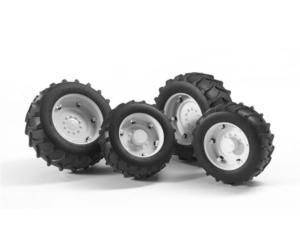 Juego de ruedas gemelas Tractores de juguete serie Top Profi 2000 llantas blancas