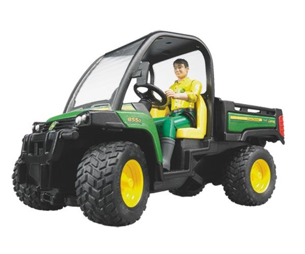 Vehiculo de juguete JOHN DEERE Gator XUV 855 D con conductor