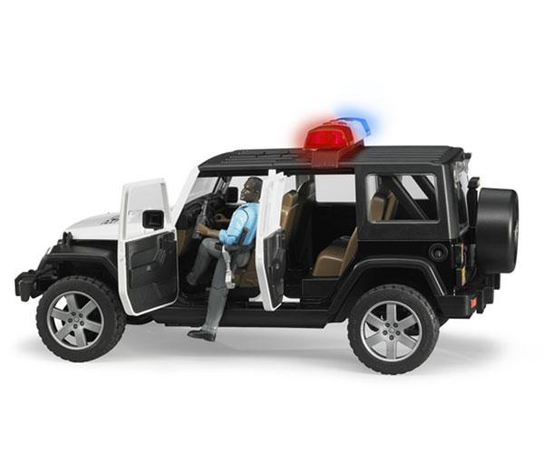 Todoterreno JEEP Wrangler Unlimited Rubicon con 1 policia Bruder 02527 - Ítem1