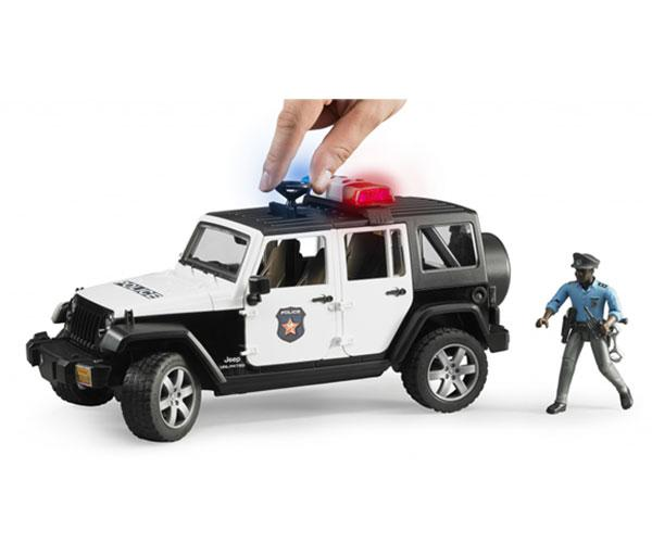 Todoterreno JEEP Wrangler Unlimited Rubicon con 1 policia Bruder 02527 - Ítem2
