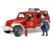 Todoterreno de juguete JEEP WRANGLER Unlimited Rubicon con bombero Bruder 02528 - Ítem1