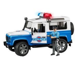 Todoterreno de juguete LAND ROVER SW con policia