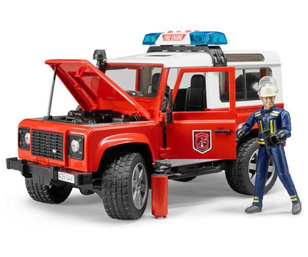 Todoterreno de juguete LAND ROVER DEFENDER con 1 bombero Bruder 02596 - Ítem3
