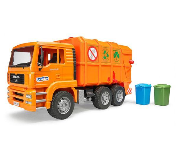 Camión de basura de juguete MAN TGA Bruder 02760