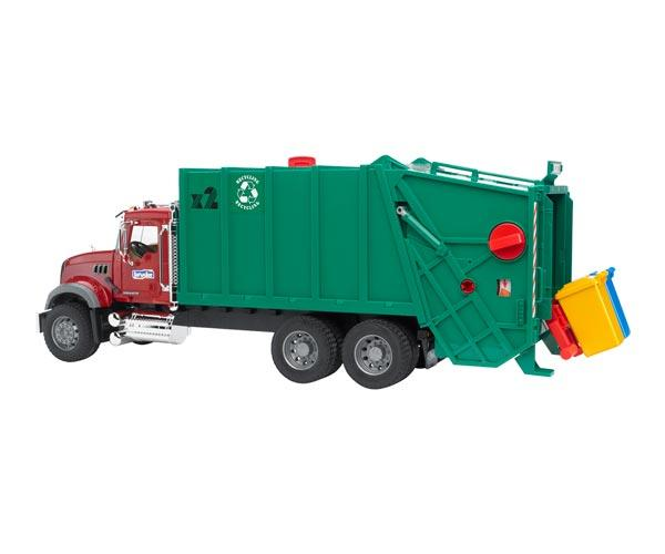 camion basura mack granite con carga trasera