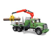 Camion forestal de juguete MACK Granite con 3 troncos - Ítem1