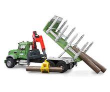 Camion forestal de juguete MACK Granite con 3 troncos - Ítem3