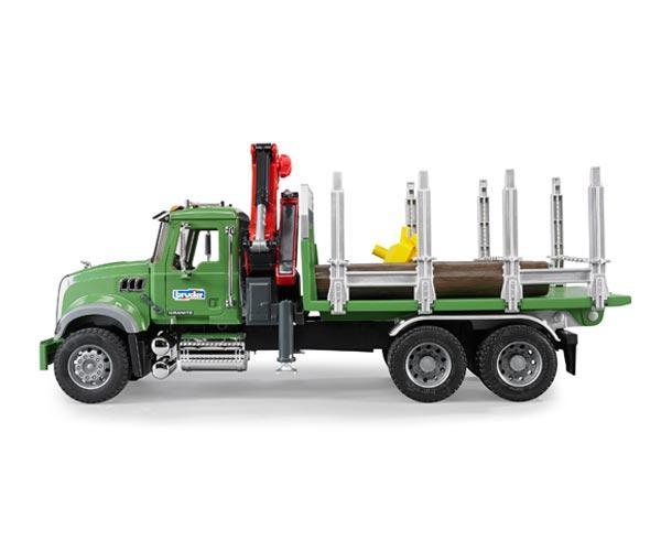 Camion forestal de juguete MACK Granite con 3 troncos - Ítem4