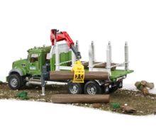 Camion forestal de juguete MACK Granite con 3 troncos - Ítem5