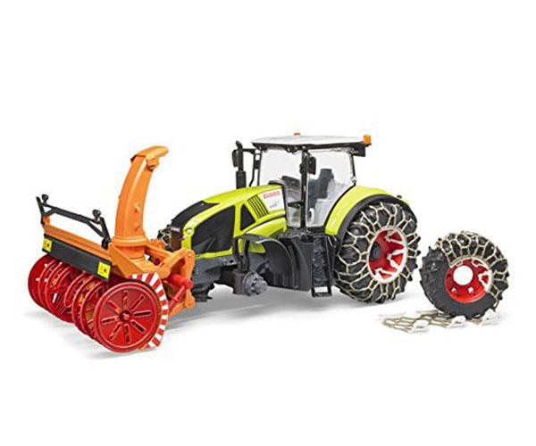 Tractor de juguete CLAAS Axion 950 con cadenas de nieves y sopladora Bruder 03017 - Ítem2