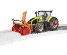Tractor de juguete CLAAS Axion 950 con cadenas de nieves y sopladora Bruder 03017 - Ítem4