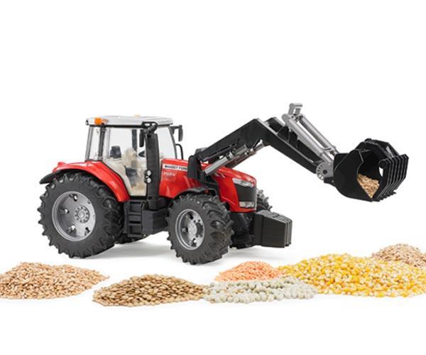 Tractor de juguete MASSEY FERGUSON con pala - Ítem6