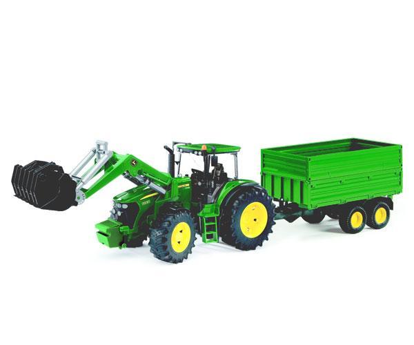tractor john deere 7930 con pala y remolque basculante