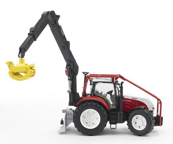 Pack tractor forestal de juguete STEYR CVT 6230 + 4 troncos - Ítem2