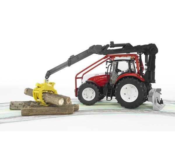Pack tractor forestal de juguete STEYR CVT 6230 + 4 troncos - Ítem4
