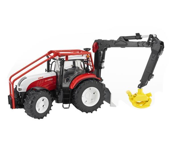 Pack tractor forestal de juguete STEYR CVT 6230 + 4 troncos - Ítem1