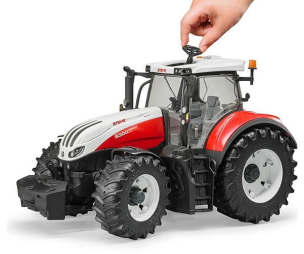Tractor de juguete STEYR 6300 Terrus Bruder 3180 - Ítem4