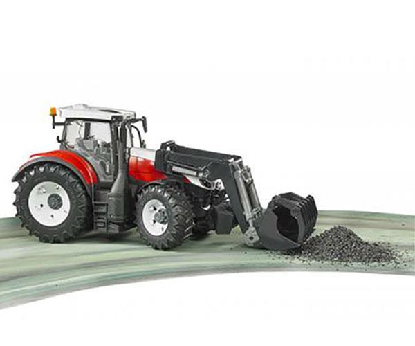 Tractor de juguete STEYR 6300 Terrus con pala Bruder 3181 - Ítem2