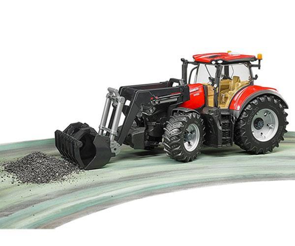 Tractor de juguete CASE IH Optum 300 CVX con pala Bruder 3191 - Ítem3