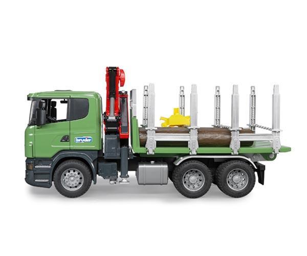 Camion forestal de juguete SCANIA Serie R con tres troncos - Ítem4