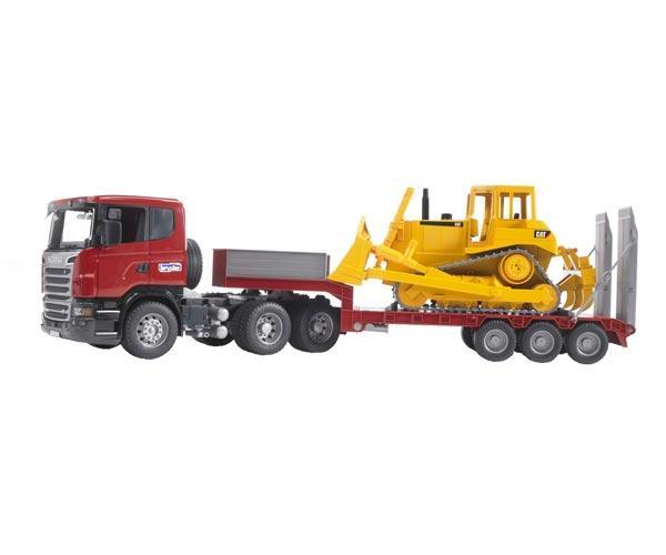 juguete scania con gondola y bulldozer caterpillar - Ítem1