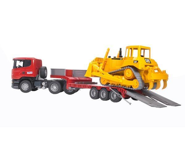 juguete scania con gondola y bulldozer caterpillar - Ítem3
