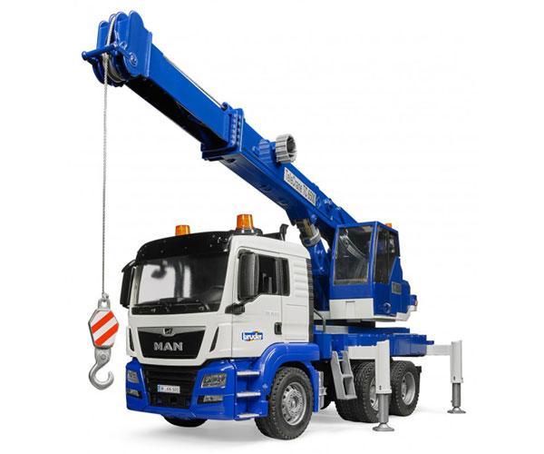 Camión grúa de juguete MAN TGS con luces y sonido