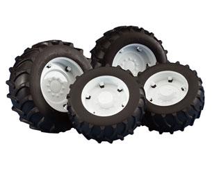 Pack ruedas Tractores serie Top Profi 2000 llantas blancas