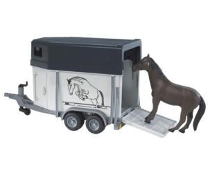 Remolque de juguete de caballos con 1 caballo