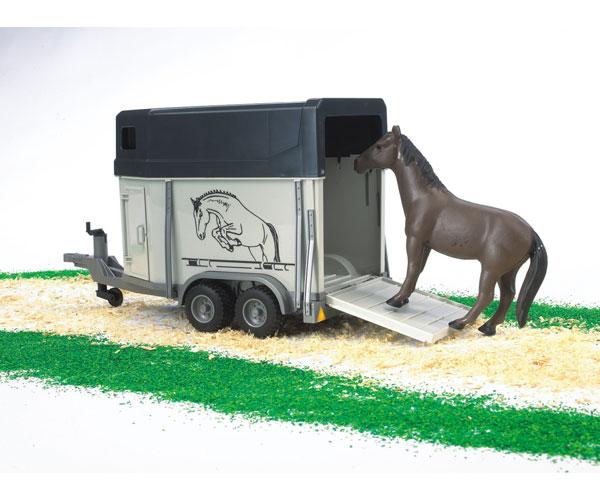 Remolque de juguete de caballos con 1 caballo - Ítem1