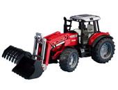 Tractor de juguete MASSEY FERGUSON 7480 con pala