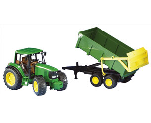 Tractor de juguete JOHN DEERE 6920 con remolque - Ítem1