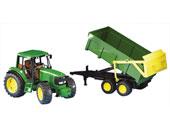 Tractor de juguete JOHN DEERE 6920 con remolque