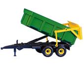 Remolque basculante de juguete verde JOHN DEERE