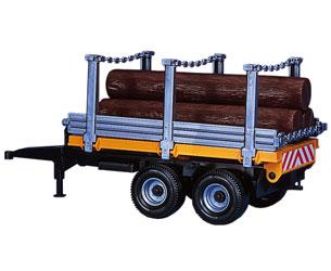 Remolque de juguete para el transporte de troncos
