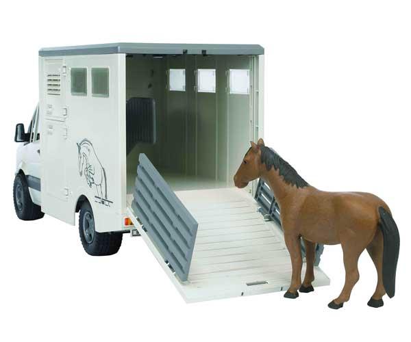 Furgón de juguete MERCEDES BENZ Sprinter para el transporte de caballos - Ítem2