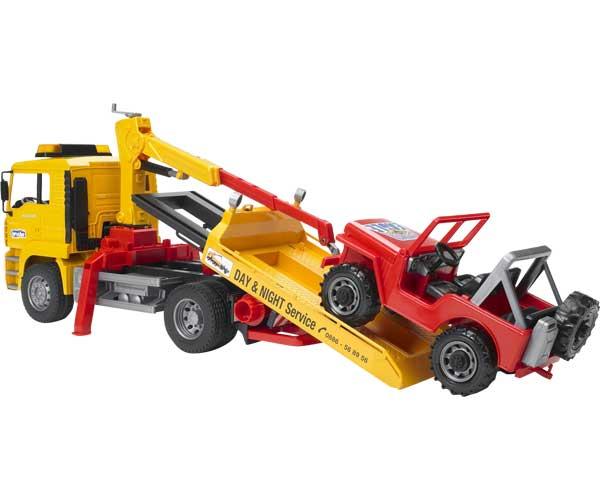 Camión grua de juguete MAN TGA con todoterreno - Ítem1
