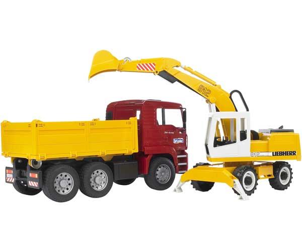 Camión de juguete MAN TGA C/ Excavadora LIEBHERR 912 - Ítem1